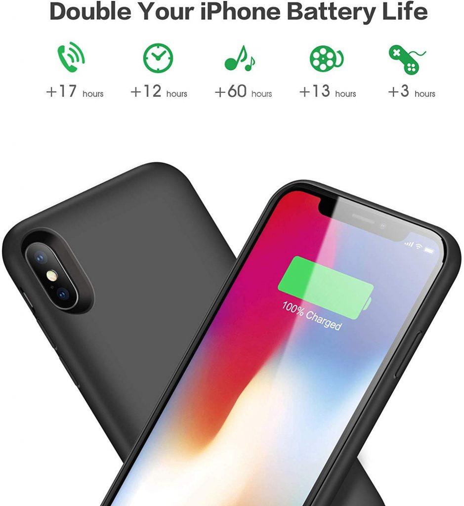 Coque batterie pour iPhone X et XS