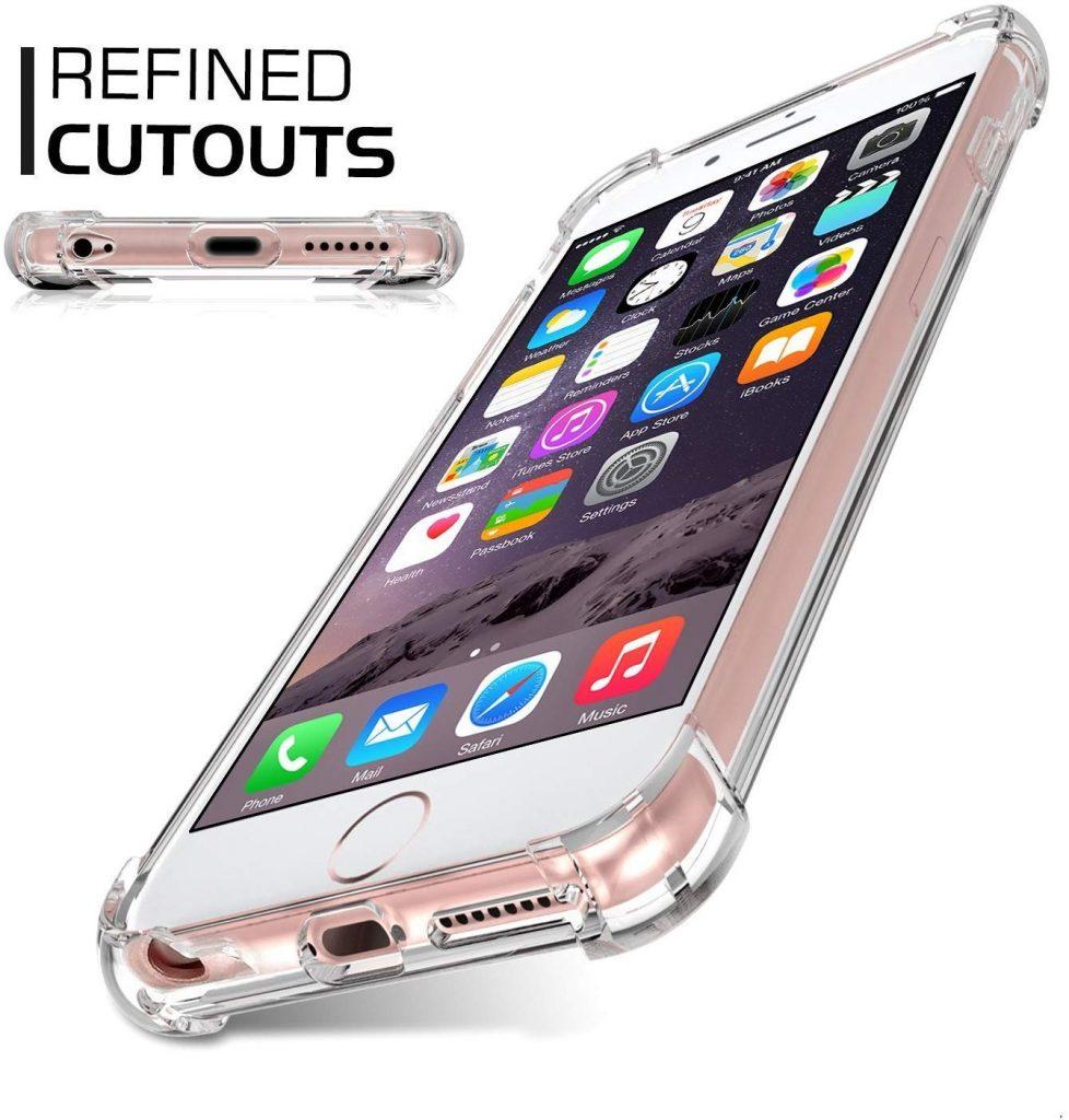Coque iPhone 6 Plus Jenuos en TPU transparent